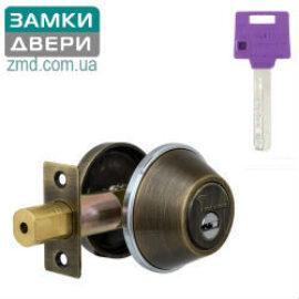 Замок Mul-t-lock Dead Bolt DBM, кл.-тумблер, Classic PRO, 3кл. ант.бр