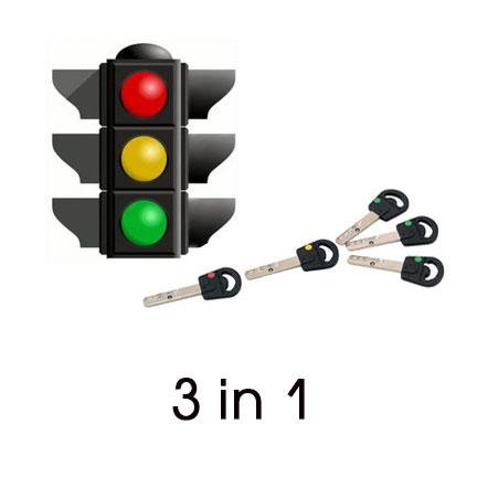 Опция 3 в 1 «Светофор» Mul-t-lock, 3+1+1 ключ Classic PRO