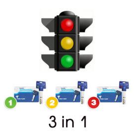 Опция 3 в 1 «Светофор» Mul-t-lock, 3+1+1 ключ Interactive+