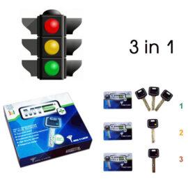 Опция 3 в 1 «Светофор» Mul-t-lock, 3+1+1 ключ MT5+