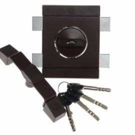 Накладной замок Gerda Tytan ZX GT-8 графитовый, 4кл., длинный ключ