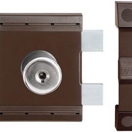 Накладной замок Gerda Tytan ZK (коричневый), ключ-ключ, 4кл.