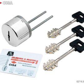 Защитная накладка для сув.замков Cisa 02716.61.1.18 никель (2 набора ключей)