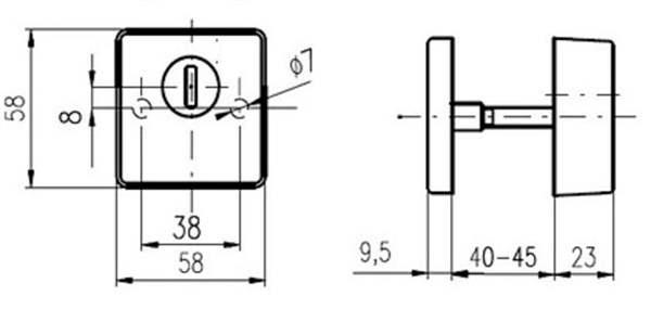 Набор Rostex Quadrum R3/H, 40-45мм, нержавейка