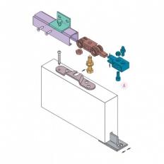 Раздвижная система + напр. 200см 40кг Koblenz Art.040040/G300E