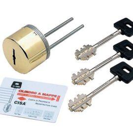 Защитная накладка для сув.замков Cisa 02716.61.1.00 латунь (2 набора ключей)