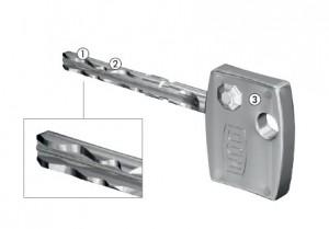 Dom diamant key