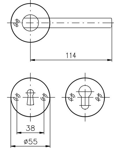 ROSTEX® BRIT/SNH Фурнитура для внутреннего применения на раздельных щитках. Конструкция ручки и щитка проста и логична, акцент сосредоточен на геометрических формах круга и прямоугольника. Ручка имеет нестандартную форму, придающую общей концепции оригинальную авангардную форму. Дизайн ручки подойдет современным интерьерам стилей минимализм, хай-тек, конструктивизм, баухаус, лофт, авангард и т.д. Технические характеристики - Страна-производитель: Чехия - Материал: нержавеющая сталь - Варианты: PZ, WC, BB - Сторонность универсальная L/R - Стандартная комплектация на двери толщиной 40-45 мм