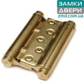 Петля маятниковая пружинная 125 mm латунь (барная)