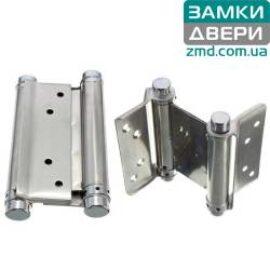 Петля маятниковая пружинная 75 mm никель (барная)