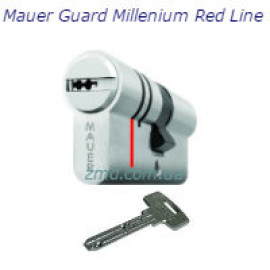 Цилиндр Mauer Guard Millenium Red line 66 (31x35) Ni, 5 ключей, никель