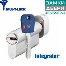 Цилиндр MUL-T-LOCK INTEGRATOR 110 (40x70T) никель сатин
