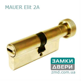 Цилиндр Mauer Elite 2A 82 (41x41)T Ms, 5 ключей, под тумблер, латунь