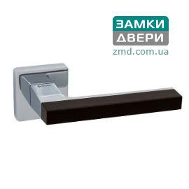 Ручки на розетке System AZUR 104 RO11 CR-CRAL12, хром-черный