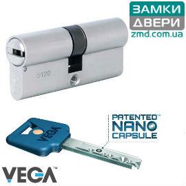 Цилиндр VEGA 76 (43х33) никель, VIP_CONTROL 1KEY+5KEY