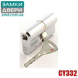 Цилиндр Abloy Protec2 332N 128 (47x81), закаленный, хром, 3 ключа