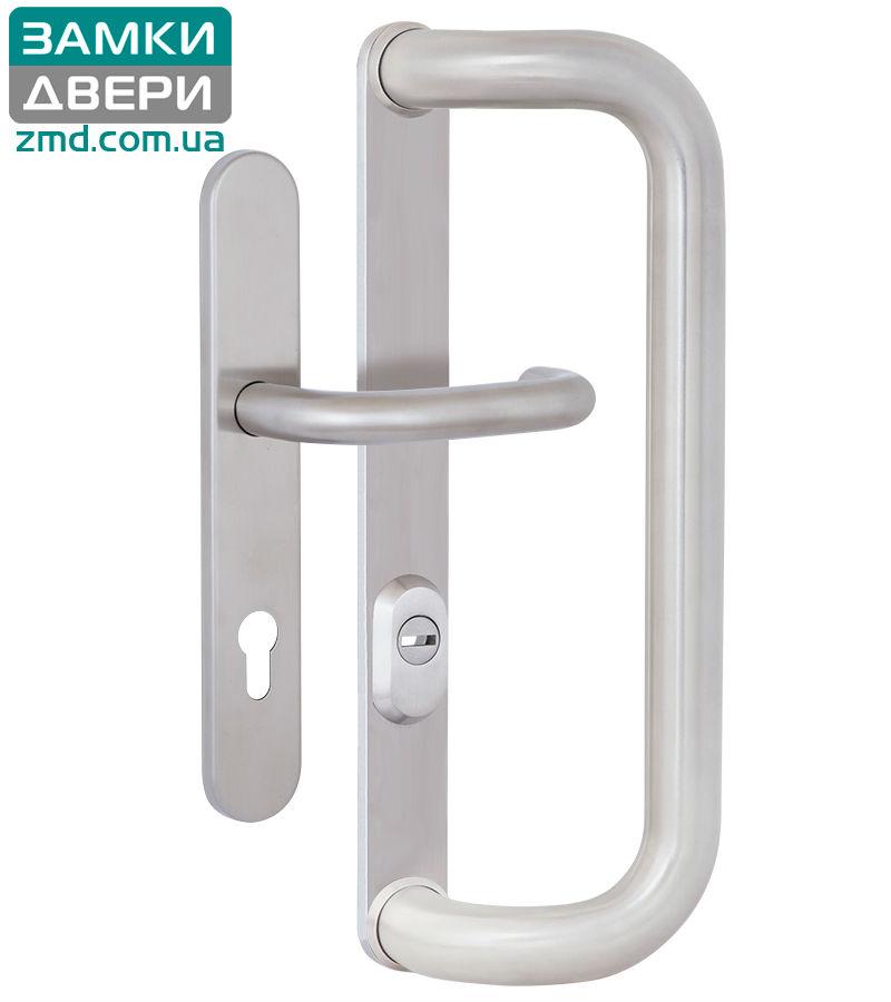 Ручка-скоба ROSTEX G 390 fix-mov PZ PLATE 85мм Нерж. сталь_мат