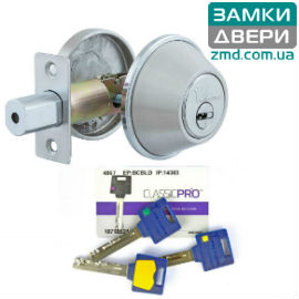 Замок Mul-t-lock Dead Bolt DBM, ключ-тумбл., Classic PRO, 3кл., сатин никель