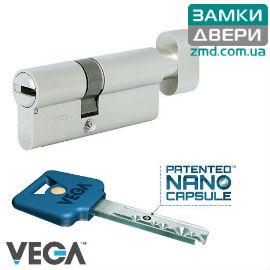 Цилиндр VEGA110 (55х55) Т никель, VIP_CONTROL 1KEY+5KEY