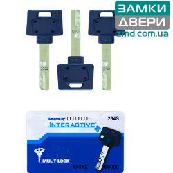 Комплект ключей MUL-T-LOCK INTERACTIVE+ 3KEY+CARD