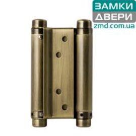 Петля маятниковая пружинная 125 mm бронза (барная)