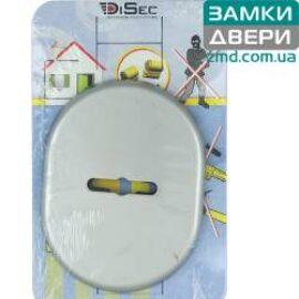 Накладка DISEC KT037 MATRIX OVAL, никель сатин без шторки