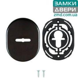 Накладка DISEC KT037 MATRIX OVAL, черный без шторки